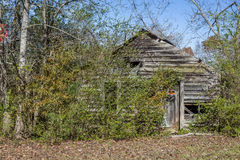 Old Abandoned Shed in Rural Georgia Stock Photography