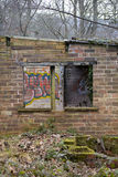 Old Abandoned Shed. A shot from the side of an old abandoned Brick shed Royalty Free Stock Photography