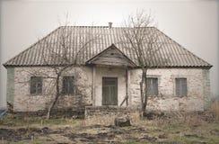Old Abandoned Single Storey House Stock Image