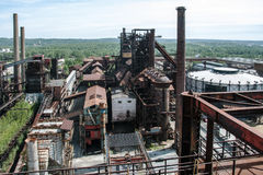 Old, abandoned steel plant Stock Photos