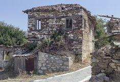An old, abandoned stone house Royalty Free Stock Photo