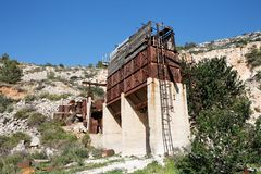 Old abandoned stone quarry  Stock Image
