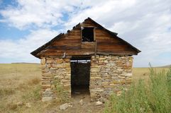 Old abandoned structure. Old abandoned structure in Wyoming Stock Photos