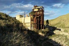 Old abandoned sulfur mine 04. The old abandoned sulfur mine of saponaro garibaldi, near caltanissetta in sicily. a detail of the forno masobello stock image