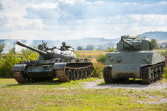 Old abandoned tanks, after war in Croatia Royalty Free Stock Photography