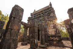 Old abandoned temple in jungles Royalty Free Stock Photos
