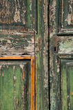 Old abandoned textured door Stock Photo