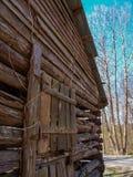 Old Abandoned Tobacco Barn stock image