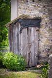 Old abandoned toilet Stock Image