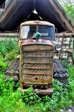 Old abandoned tracked tractor Stock Photos