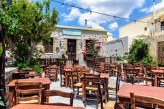 Old abandoned traditional Greek tavern on Crete island Royalty Free Stock Images