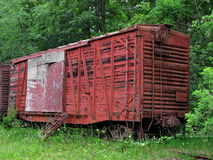 Old abandoned train boxcar Stock Photos