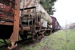 Old and abandoned train Royalty Free Stock Photo
