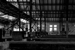 Old abandoned train station Stock Photos