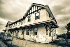 Old Abandoned Train Station Stock Image