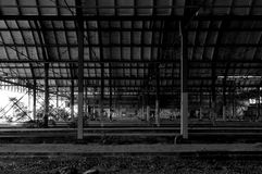 Old abandoned train station Stock Images