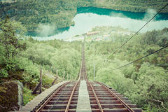 Old abandoned train on the way to Trolltunga, Norway Stock Photography