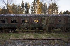 Old abandoned trains Stock Images