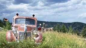 Old Abandoned Truck in Nature Royalty Free Stock Photos