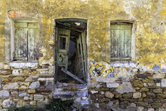 Old abandoned and tumbledown house Royalty Free Stock Images