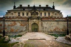 The old abandoned Ukrainian Castle, Renaissance Palace Stock Photography