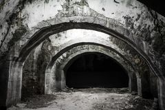 Old underground tunnel Royalty Free Stock Photography