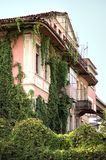 Abandoned old villa in Tirana centre. Old abandoned villa and facade all covered by wild plants, situated in the center of Tirana, Albania Royalty Free Stock Photography