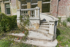 Old abandoned villa in Serbia Royalty Free Stock Images