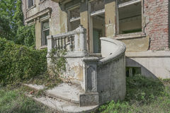 Old abandoned villa in Serbia Stock Image