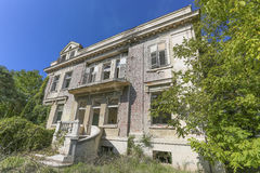 Old abandoned villa in Serbia Royalty Free Stock Photography