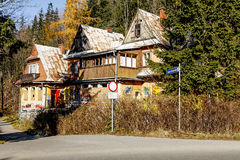 Old and abandoned villa in Zakopane Royalty Free Stock Photo