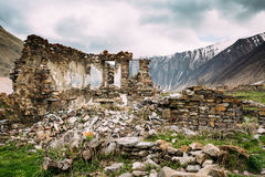 Old Abandoned Village With Dilapidated Ruined Houses In Ketrisi Royalty Free Stock Image