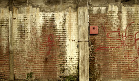 Old abandoned wall Royalty Free Stock Image