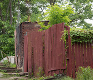 Old Abandoned Wall And Fence In Local Urban Area Royalty Free Stock Photo