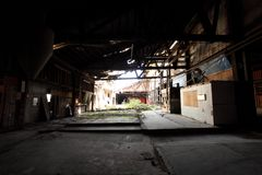Old and abandoned warehouse Royalty Free Stock Photography