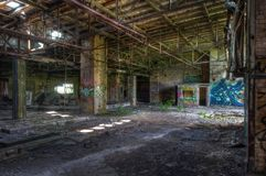 Old abandoned warehouse Royalty Free Stock Images