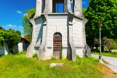 Old abandoned water tower in Palmanova, Italy. Royalty Free Stock Photos