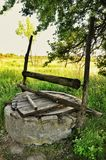 Old abandoned well Stock Image