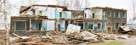 Old abandoned wooden building Stock Image