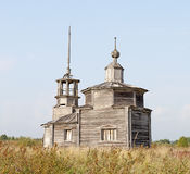 Old abandoned wooden chapel Royalty Free Stock Photography