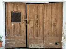 Old and abandoned wooden gate Royalty Free Stock Photography