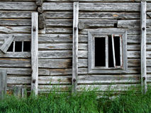 Old abandoned wooden house. Abandoned wooden building in Norway Stock Image