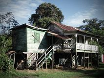 Old abandoned wooden house, Belize Stock Photography