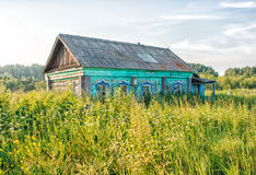Old abandoned wooden house Stock Photos