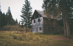 Old abandoned wooden house in the forest Royalty Free Stock Photography
