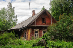 Old abandoned wooden house stock images