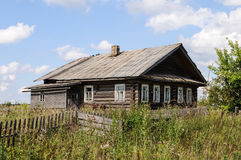 Old abandoned wooden house in North of Russia royalty free stock photos