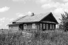 Old abandoned wooden house in North Russia royalty free stock photos