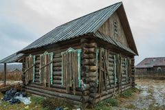 Old abandoned house in old village Royalty Free Stock Image