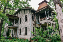 Old abandoned wooden house royalty free stock photography